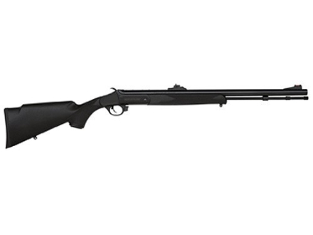 "Traditions Buck Stalker Muzzleloading Rifle 50 Caliber Synthetic Stock Black 24"" Blue Barrel"