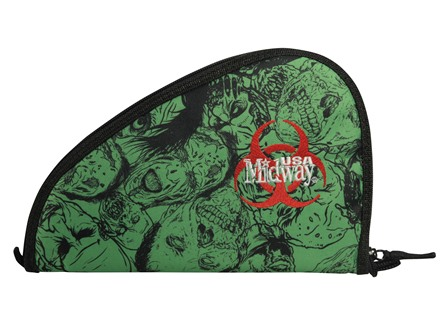 MidwayUSA Zombie Pistol Case PVC Coated Polyester Black and Green