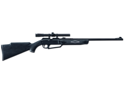 Daisy Powerline 880 Air Rifle Kit 177 Caliber with scope 4x 15mm Polymer Black Stock Blue Barrel