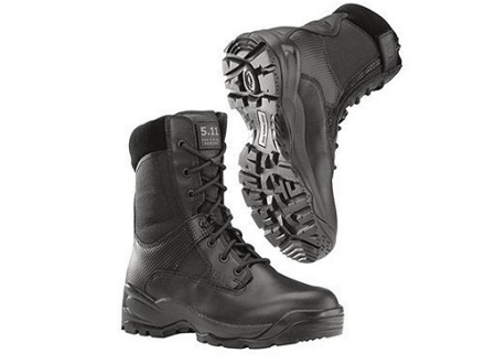 "5.11 ATAC Storm 8"" Waterproof Uninsulated Boots Leather and Nylon Side Zip Black Mens"