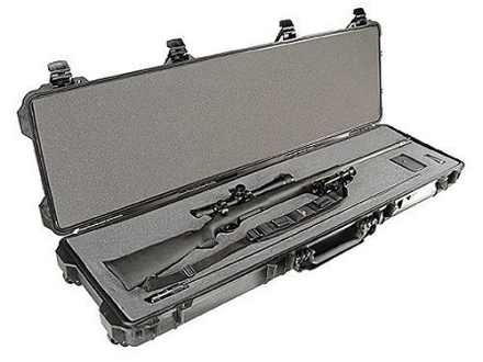 Pelican 1750 Scoped Rifle Gun Case with Solid Foam Insert and Wheels Polymer