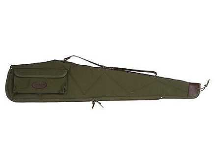 Boyt Signature Scoped Rifle Gun Case with Pocket and Sling Quilted Canvas with Leather Trim