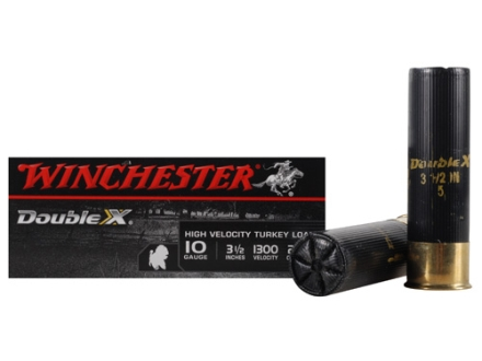 "Winchester Double X Turkey Ammunition 10 Gauge 3-1/2"" 2 oz #5 Copper Plated Shot"