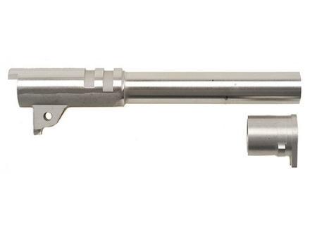 "Wilson Combat Match Grade Barrel with Bushing 1911 Government 45 ACP 1 in 16"" Twist 5"" Stainless Steel"