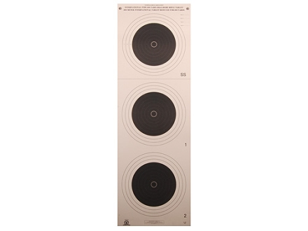 NRA Official Smallbore Rifle Target A-33 100-Yard Paper Package of 100