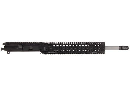 "Syrac Ordnance AR-15 A3 Flat-Top Upper Assembly 223 Wylde 1 in 8"" Twist 16"" Barrel Stainless Steel Mid Gas with Daniel Defense Omega X 12.0 Free Float Handguard, Solid Gas Block, Flash Hider"
