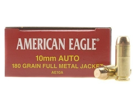 Federal American Eagle Ammunition 10mm Auto 180 Grain Full Metal Jacket Box of 50