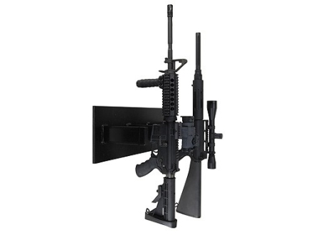 Plastix Plus AR-15 4-Gun Vertical Wall Mount Plastic Black
