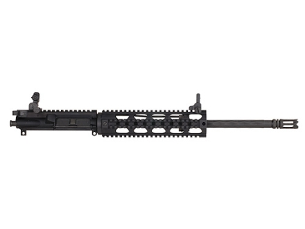 "Yankee Hill AR-15 Lightweight Specter Upper Assembly 5.56x45mm NATO 1 in 7"" Twist 16"" Fluted Barrel Chrome Lined with Quad Rail Free Float Handguard, Flip-Up Sights, Flash Hider"