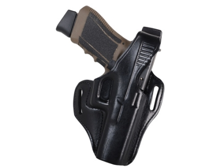 Bianchi 56 Serpent Outside the Waistband Holster Right Hand Glock 17, 22, 31 Leather Black