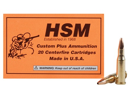 HSM Varmint Gold Ammunition 218 Bee 40 Grain Berger Varmint Hollow Point Flat Base Box of 20