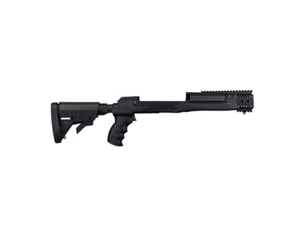 Advanced Technology Strikeforce 6-Position Collapsible Side Folding Rifle Stock with Scorpion Recoil System Ruger Mini-14, Mini-30 Black