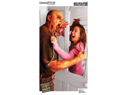 Champion Zombie Heavy Metal Defense Target 24&quot; x 45&quot; Paper Package of 10