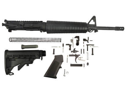 "Del-Ton Mid-Length Carbine Kit AR-15 5.56x45mm NATO 1 in 9"" Twist 16"" Barrel Upper Assembly, Lower Parts Kit, M4 Collapsible Buttstock Pre-Ban"