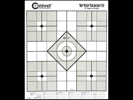 "Caldwell Tip Top Target 8"" Sight In Package of 25"