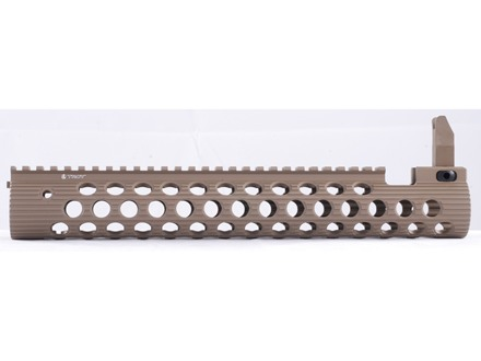 "Troy Industries 13"" Alpha Battle Rail Modular Free Float Handguard with Integral Flip-Up Front Sight AR-15"