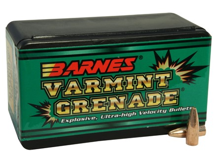Barnes Varmint Grenade Bullets 22 Caliber (224 Diameter) 36 Grain Hollow Point Lead-Free
