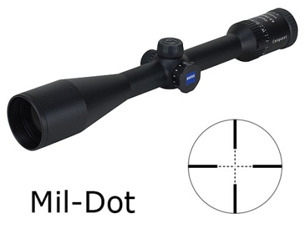 Zeiss MC Conquest Rifle Scope 4.5-14x 44mm Side Focus Mil-Dot Reticle Matte