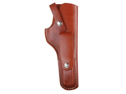 "Hunter 1111 Belt Holster Right Hand with Magazine Pouch 5.5"" Bull Barrel Ruger 22 Auto Leather Brown"