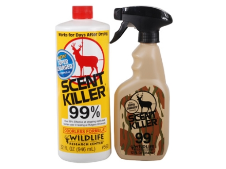 Wildlife Research Center Scent Killer Combo Scent Eliminator Bottle Liquid 32 oz and Spray Liquid 12 oz