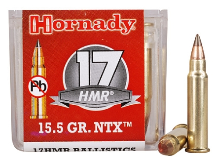 Hornady Ammunition 17 Hornady Magnum Rimfire (HMR) 15.5 Grain NTX Lead-Free Box of 50