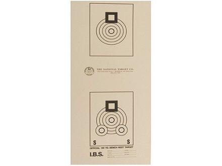 National Target International Bench Rest Shooters Target IBS 100 YD Bench Rest Paper Package of 100