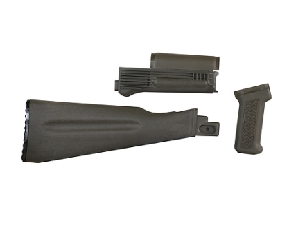Arsenal, Inc. Complete Buttstock and Handguard Set NATO Length AK-47, AK-74 Stamped Receivers Polymer OD Green