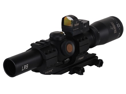 Burris Fullfield TAC30 Rifle Scope 30mm Tube 1-4x 24mm 1/2 MOA Adj Illuminated Ballistic CQ Reticle Matte with Attached Fastfire III Red Dot Sight and AR-P.E.P.R. 1-Piece Extended Scope Mount Matte