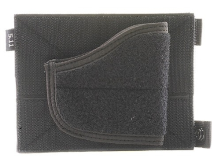 5.11 Tactical Holster Pouch for 5.11 Tactical Vests or Shirts Small, Medium Frame Pistols and Revolvers Nylon Black