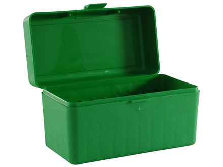 MTM Flip-Top Ammo Box 7mm Remington Magnum, 300 Winchester Magnum, 375 H&amp;H Magnum 50-Round Plastic