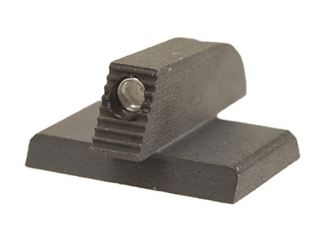 "Kensight Front Night Sight 1911 Novak Cut Flat Base .180"" Height .115"" Width Steel Black with Green Tritium Dot"