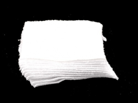 Southern Bloomer Cleaning Patches 7mm Square Knit Cotton Package of 1000
