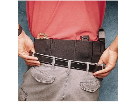 "DeSantis Belly Band Holster Small, Medium Frame Semi Automatic, Revolver 44"" to 50"" Waist Elastic Black"