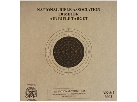 NRA Official Air Rifle Target AR-5/1 10 Meter Air Rifle Paper Package of 100