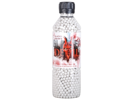 Blaster Devil Airsoft BBs 6mm .25 Gram White Bottle of 3000