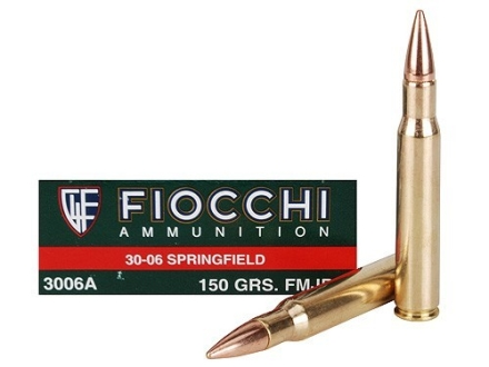 Fiocchi Shooting Dynamics Ammunition 30-06 Springfield 150 Grain Full Metal Jacket Boat Tail Box of 20