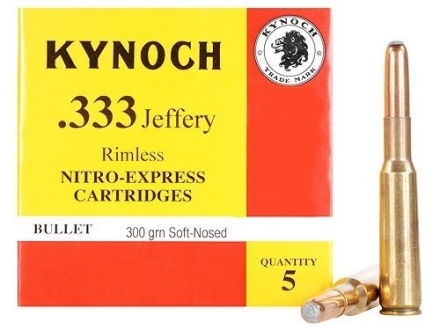 Kynoch Ammunition 333 Jeffery Rimless 300 Grain Woodleigh Weldcore Soft Point Box of 5