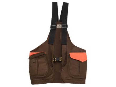 Beretta Men's Canvas Strap Vest Cotton Green and Blaze Orange