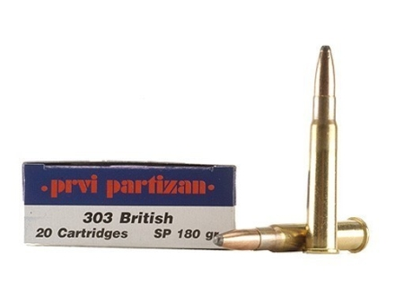 Prvi Partizan Ammunition 303 British 180 Grain Soft Point Box of 20
