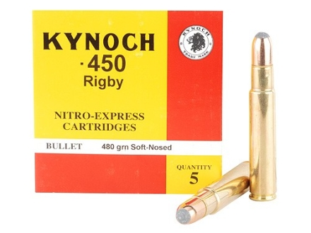 Kynoch Ammunition 450 Rigby Rimless 480 Grain Woodleigh Welded Core Soft Point Box of 5