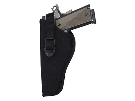 "BlackHawk Hip Holster Left Hand Medium, Large Double Action Revolver 4"" Barrel Nylon Black"