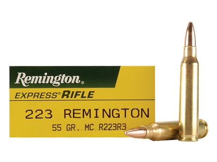 Remington Express Ammunition 223 Remington 55 Grain Full Metal Jacket Box of 20