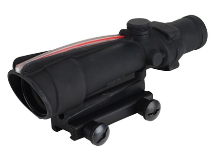 Trijicon ACOG TA11 BAC Rifle Scope 3.5x 35mm Dual-Illuminated Red Chevron 308 Winchester Reticle with TA51 Flattop Mount Matte