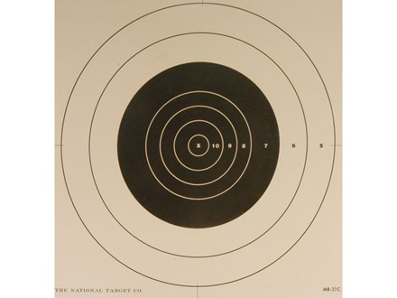 NRA Official High Power Rifle Target Repair Center MR-31C 100 Yard Slow Fire Paper Package of 100