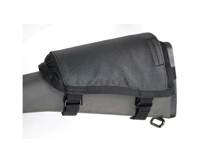 BlackHawk Hawktex Tactical Ambidextrous Rifle Cheek Rest Fixed Stock Rifle Nylon Black
