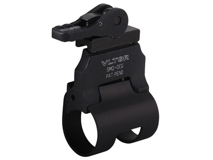 "Vltor QD Offset Picatinny Rail Scout Flashlight Mount with Quick Detach Throw Lever Surefire G2, G2X & P-Series 1.010"" to 1.040"" Ring Diameter AR-15 Aluminum Matte"