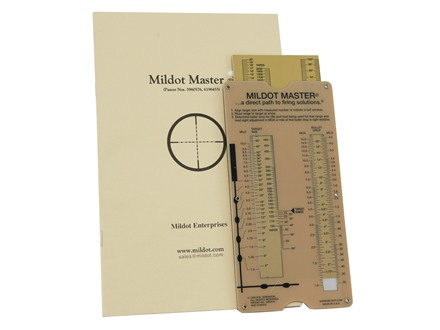 Mildot Enterprises Mildot Master Range and Bullet Drop Calculation Guide