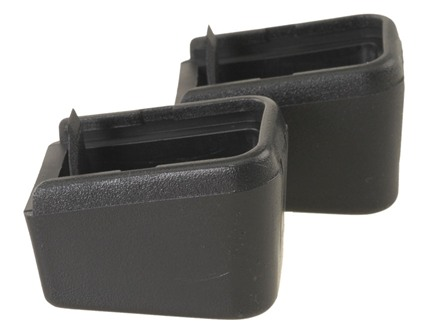 ProMag Magazine Base Pad +2 Glock 17, 19, 22, 23, 26, 27, 31, 32, 33, 34, 35 Polymer Black Package of 2