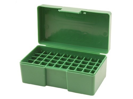 RCBS Flip-Top Ammo Box 38 Special, 357 Magnum 50-Round Plastic Green