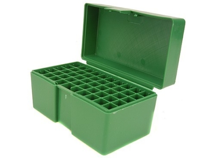 RCBS Flip-Top Ammo Box 22-250 Remington, 243 Winchester, 308 Winchester 50-Round Plastic Green